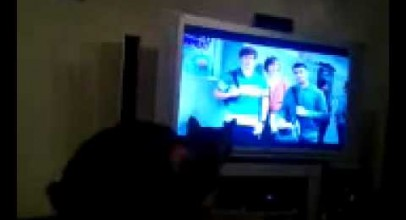 """Buddy watching """"My Cat From Hell"""""""