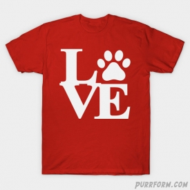 Cat Paw Love T-Shirt