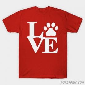 Cat Paw Love T-Shirt