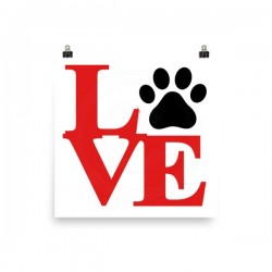 Love Paw Poster