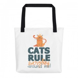Cats Rule Everything Around Me Tote Bag