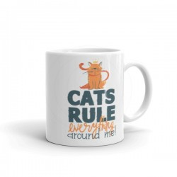 Cats Rule Everything Around Me Mug
