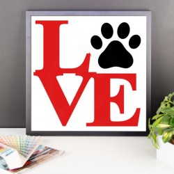 Love Paw Framed Print